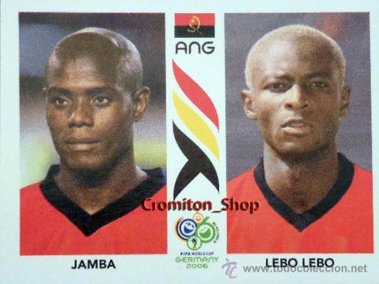 Nº 304 - JAMBA /LEBO LEBO -ANGOLA - MUNDIAL ALEMANIA 2006 06 PANINI WORLD CUP GERMANY (Coleccionismo Deportivo - Álbumes y Cromos de Deportes - Cromos de Fútbol)