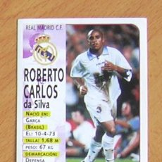 Cartes à collectionner de Football: REAL MADRID - 72 ROBERTO CARLOS - EDITORIAL PANINI 1998-1999, 98-99 - NUNCA PEGADO. Lote 36236629
