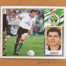 Cromos de Fútbol: RÁCING DE SANTANDER - ALBERTO - EDICIONES ESTE 1997-1998, 97-98 - NUNCA PEGADO. Lote 36304698
