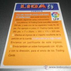 Cromos de Fútbol: CORREGIDO 350 BONO COMODIN CROMOS ALBUM MUNDICROMO FICHAS LIGA FUTBOL 1995 1996 95 96. Lote 121551252