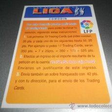 Cromos de Fútbol: ERROR 35 BONO COMODIN CROMOS ALBUM MUNDICROMO FICHAS LIGA FUTBOL 1995 1996 95 96. Lote 164992444