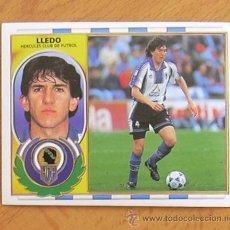 Cromos de Fútbol: HÉRCULES - LLEDÓ - EDICIONES ESTE 1996-1997, 96-97 - NUNCA PEGADO. Lote 36369916