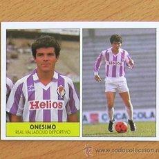 Cromos de Fútbol: VALLADOLID - ONÉSIMO - EDICIONES FESTIVAL 1987-1988, 87-88 - NUNCA PEGADO. Lote 36423489
