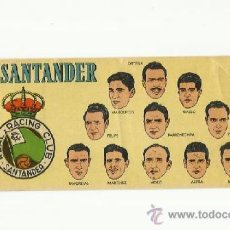 Cromos de Fútbol: CROMO BATANGA RACING DE SANTANDER 1953-1954.. Lote 36613245