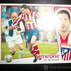 Cromos de Fútbol: SIMEONE DEL ATLETICO DE MADRID ALBUM ESTE LIGA 2004 - 2005 ( 04 - 05 ). Lote 194526381