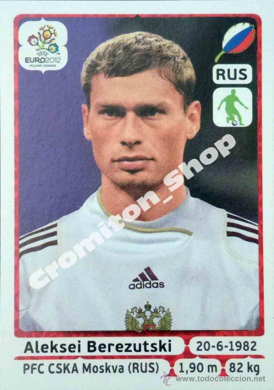 Nº 117 ALEKSEI BEREZUTSKI EURO 12 2012 POLAND UKRAINE PANINI POLONIA UCRANIA (Coleccionismo Deportivo - Álbumes y Cromos de Deportes - Cromos de Fútbol)