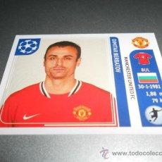 Cromos de Futebol: 156 DIMITAR BERBATOV MANCHESTER UNITED CROMOS ALBUM CHAMPIONS UEFA LEAGUE 2011 2012 11 12 PANINI. Lote 36947001