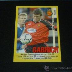 Cromos de Fútbol: PANINI LIGA 1999 2000 - 53A GABRICH - RCD. MALLORCA - 99 00 -. Lote 115383650