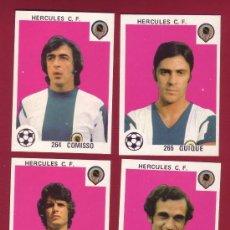 Cromos de Fútbol: HERCULES - MAGA 1978-1979 - 4 CROMOS NUNCA PEGADOS 264 COMISSO 265 QUIQUE 272 BARRIOS 276 LATTUADA. Lote 37180457