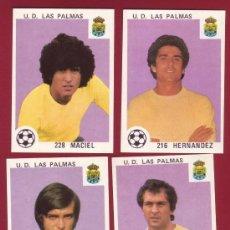 Cromos de Fútbol: U.D. LAS PALMAS - MAGA 1978-1979 - 4 CROMOS 216 HERNANDEZ 223 MORETE 226 ESTEVEZ 228 MACIEL. Lote 37180483