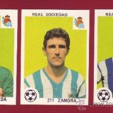 Cromos de Fútbol: REAL SOCIEDAD - MAGA 1978-1979 - 3 CROMOS NUNCA PEGADOS 198 ARCONADA 204 GAZTELU 211 ZAMORA. Lote 37180523