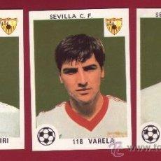 Cromos de Fútbol: SEVILLA C.F. - EDITORIAL MAGA 1978-1979 - 3 CROMOS NUNCA PEGADOS 118 VARELA 121 JAEN 126 BIRI BIRI. Lote 37180586