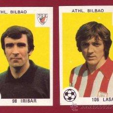 Cromos de Fútbol: ATHL. BILBAO - EDITORIAL MAGA 1978-1979 - 2 CROMOS NUNCA PEGADOS 98 IRIBAR 106 LASA. Lote 37180689