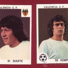 Cromos de Fútbol: VALENCIA C.F. - EDITORIAL MAGA 1978-1979 - 2 CROMOS NUNCA PEGADOS 91 DIARTE 95 KEMPES. Lote 37180731