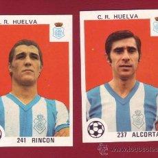 Cromos de Fútbol: C.R. HUELVA - EDITORIAL MAGA 1978-1979 - 2 CROMOS NUNCA PEGADOS 237 ALCORTA 241 RINCON. Lote 37180824