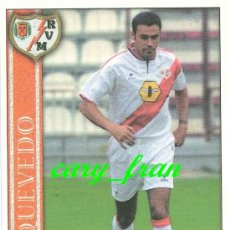 Cromos de Fútbol: MUNDICROMO 2000 2001 00 01 RAYO VALLECANO QUEVEDO . Lote 37278587
