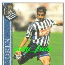 Cromos de Fútbol: MUNDICROMO 2000 2001 00 01 REAL SOCIEDAD LOREN . Lote 37278870
