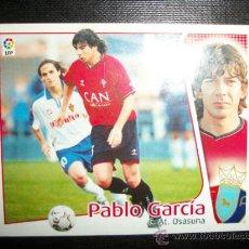 Cromos de Fútbol: PABLO GARCIA DEL OSASUNA ALBUM ESTE LIGA 2004 - 2005 ( 04 - 05 ). Lote 194526366
