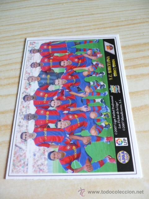 29 ALINEACION BARCELONA MUNDICROMO FICHAS DE LA LIGA 2007-2008 07-08 (Coleccionismo Deportivo - Álbumes y Cromos de Deportes - Cromos de Fútbol)