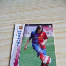 Cromos de Fútbol: 61 CACERES BARCELONA PANINI MEGACRACKS 2008-2009 08-09 . Lote 37802801
