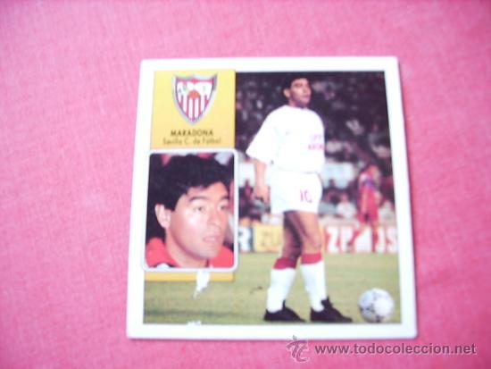 SEVILLA --ED. ESTE 92-93 COLOCA MARADONA ( SEVILLA ) NUNCA PEGADO (Coleccionismo Deportivo - Álbumes y Cromos de Deportes - Cromos de Fútbol)