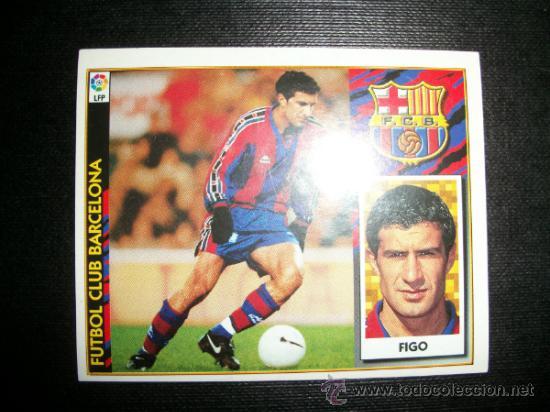 FIGO DEL BARCELONA ALBUM ESTE LIGA 1997 - 1998 ( 97 - 98 ) (Coleccionismo Deportivo - Álbumes y Cromos de Deportes - Cromos de Fútbol)