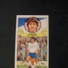 Cromos de Fútbol: CROMO LIGA 85 86 - 1985 1986 - SURJAK - REAL ZARAGOZA - BAJA - EDICIONES ESTE - NUEVO - . Lote 38044841