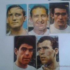Cromos de Fútbol: LOTE DE 5 CROMOS O SIMILAR DEL REAL MADRID DEL AÑO 1967. Lote 38285027