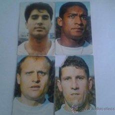 Cromos de Fútbol: LOTE DE 4 CROMOS O SIMILAR DEI VALENCIA C.F. DEL AÑO 1967. Lote 38285471