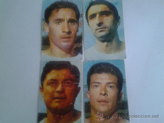 LOTE DE 4 CROMOS O SIMILAR DEL ELCHE C.F. DEL AÑO 1967 (Coleccionismo Deportivo - Álbumes y Cromos de Deportes - Cromos de Fútbol)