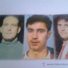 Cromos de Fútbol: LOTE DE 3 CROMOS O SIMILAR DEL AT MADRID. DEL AÑO 1967. Lote 38294408