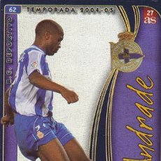 Cromos de Fútbol: MUNDICROMO FICHAS DE LA LIGA 2004 2005 ANDRADE DEPORTIVO CORUÑA Nº 62. 27 AS. MUNDICROMO 04 05.. Lote 38312709