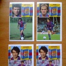 Cromos de Fútbol: LOTE 4 CROMOS FC BARCELONA ED. ESTE 1990 - 1991 90 - 91 CROMOS NUEVOS NUNCA PEGADOS. Lote 38371477