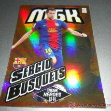 Cromos de Fútbol: MGK 378 SERGIO BUSQUETS MEGA HEROES F.C. BARCELONA CROMOS MEGACRACKS LIGA FUTBOL 2013 2014 13 14. Lote 207095428