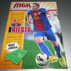 Cromos de Fútbol: MGK 67 INIESTA F.C. BARCELONA CROMOS ALBUM MEGACRACKS LIGA FUTBOL 2013 2014 13 14. Lote 207095473