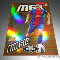 Cromos de Fútbol: MGK 389 INIESTA MEGA HEROES F.C. BARCELONA CROMOS MEGACRACKS LIGA FUTBOL 2013 2014 13 14. Lote 207095363
