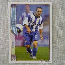 Cromos de Fútbol: MUNDICROMO FICHAS LIGA 2005 Nº 75 MUNITIS (DEPORTIVO CORUÑA) - FUTBOL 2004 2005. Lote 38479305