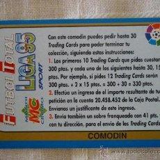 Cromos de Fútbol: MUNDICROMO FUTBOL TOTAL 95 BONO COMODIN - LIGA CROMO 1994 1995 . Lote 97727726