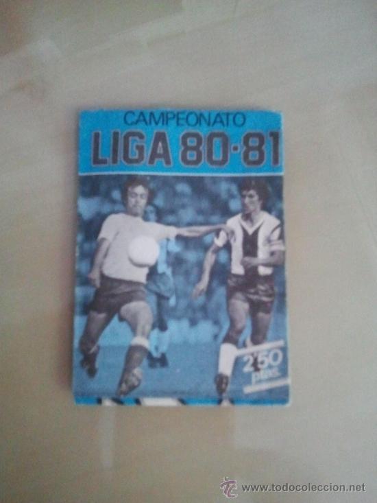 SOBRE AZUL VACÍO EDICIONES ESTE 80-81 - 1980-81 (Coleccionismo Deportivo - Álbumes y Cromos de Deportes - Cromos de Fútbol)