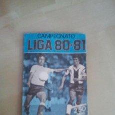 Cromos de Fútbol: SOBRE AZUL VACÍO EDICIONES ESTE 80-81 - 1980-81. Lote 38720319