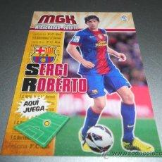Cromos de Fútbol: MGK 70 SERGI ROBERTO F.C. BARCELONA CROMOS ALBUM MEGACRACKS LIGA FUTBOL 2013 2014 13 14. Lote 207095338