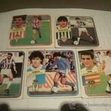 Cromos de Fútbol: LOTE DE 5 CROMOS ULTIMOS FICHAJES 1989-90 NUNCA PEGADOS BARATOS. Lote 38907472