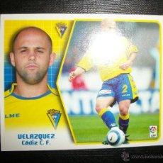 Figurine di Calcio: VELAZQUEZ BAJA DEL CADIZ ALBUM ESTE LIGA 2005 - 2006 ( 05 - 06 ). Lote 215705793
