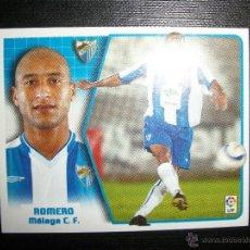 Figurine di Calcio: ROMERO DEL MALAGA ÁLBUM ESTE LIGA - 2005- 2006 ( 05 - 06 ) . Lote 41773067