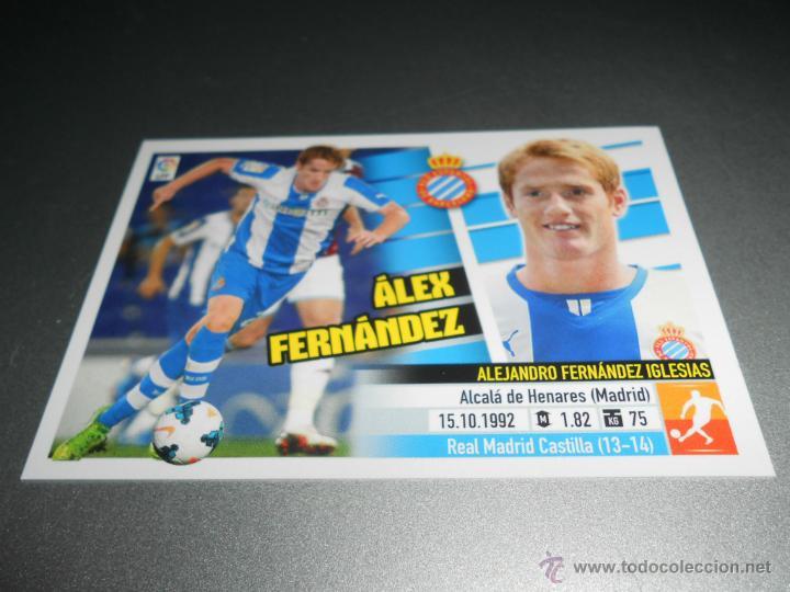 COLOCA 11 B ALEX FERNANDEZ ESPANYOL CROMOS ALBUM EDICIONES ESTE LIGA 2013 2014 13 14 (Coleccionismo Deportivo - Álbumes y Cromos de Deportes - Cromos de Fútbol)