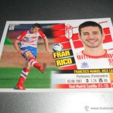 Cromos de Fútbol: COLOCA 13 B FRAN RICO GRANADA CROMOS ALBUM EDICIONES ESTE LIGA 2013 2014 13 14. Lote 176268572