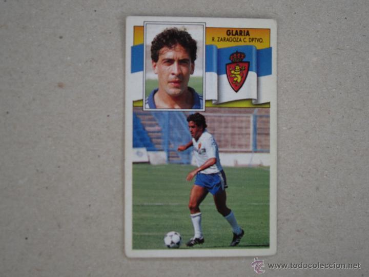 ESTE 90-91 GLARIA ZARAGOZA 1990-1991 NUNCA PEGADO (Coleccionismo Deportivo - Álbumes y Cromos de Deportes - Cromos de Fútbol)