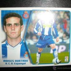 Figurine di Calcio: MOISES HURTADO DEL ESPAÑOL ALBUM ESTE LIGA 2005 - 2006 ( 05 - 06 ). Lote 210103900