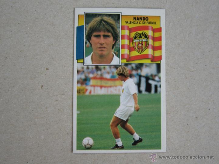ESTE 90-91 NANDO VALENCIA 1990-1991 NUEVO (Coleccionismo Deportivo - Álbumes y Cromos de Deportes - Cromos de Fútbol)