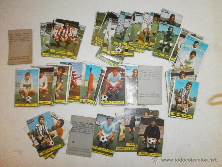 65 CROMOS ANTIGUOS DE FUTBOL CHICLE SANBER AÑO 1974 (Coleccionismo Deportivo - Álbumes y Cromos de Deportes - Cromos de Fútbol)